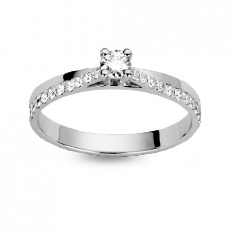 Bague or solitaire 0.30 ct