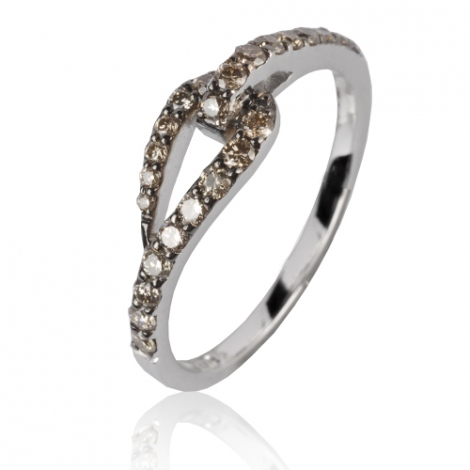 Bague diamant brun 0.32 ct Louise - 49607/A3
