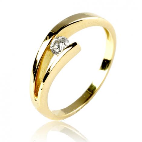 Bague diamant or jaune 0.14 ct Destinée - 11927 BT 0.14