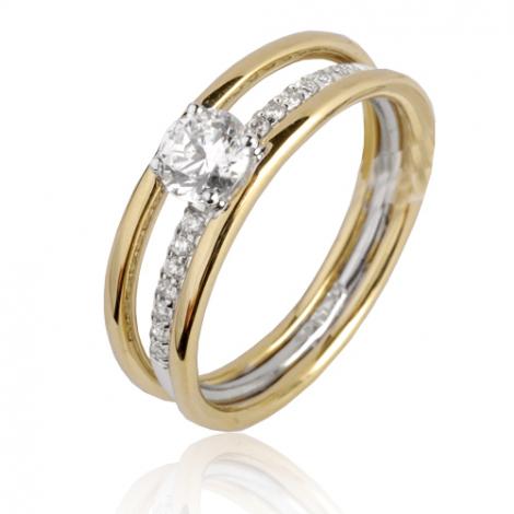 Bague diamant or jaune 0.55 ct Ivanna - 91ZV48