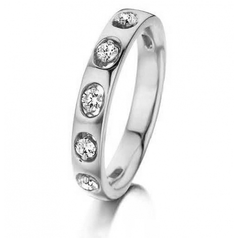 Bague diamants 0.24 ct Gaëlina - 056249-A-blanc