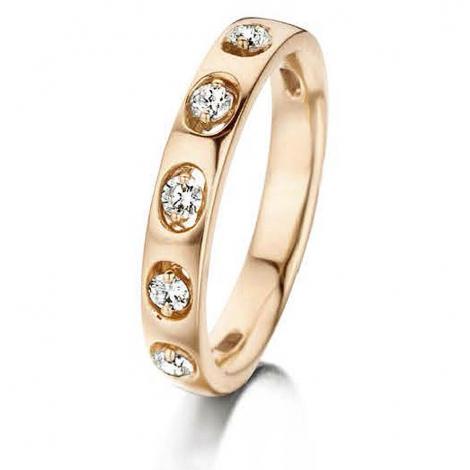 Bague diamants 0.24 ct Mahina - 056249-A-jaune