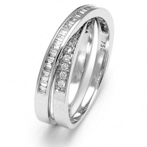Bague diamants 0.45 ct  - R4199FMPWA014