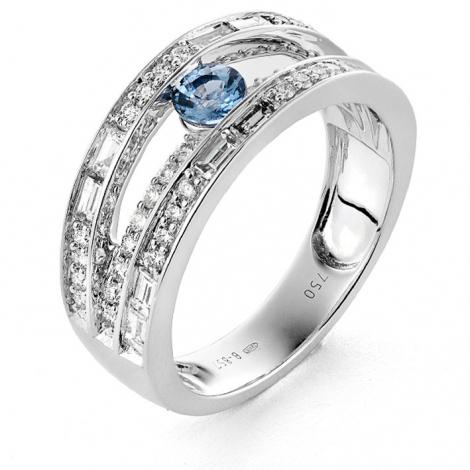 Bague diamants et Saphir 0.95 ct Margaux - RA544FMPWAQ0L