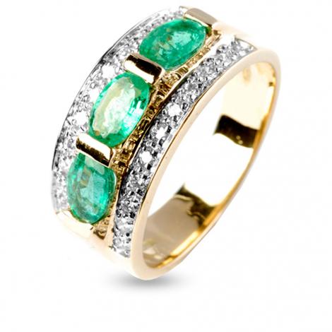 Bague émeraude en Or Blanc diamant Alessandra - 11919EM