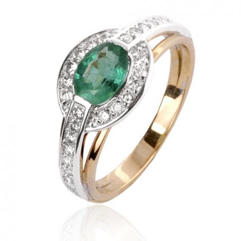 Bague émeraude en Or Blanc diamant Anaève - 12858 EM