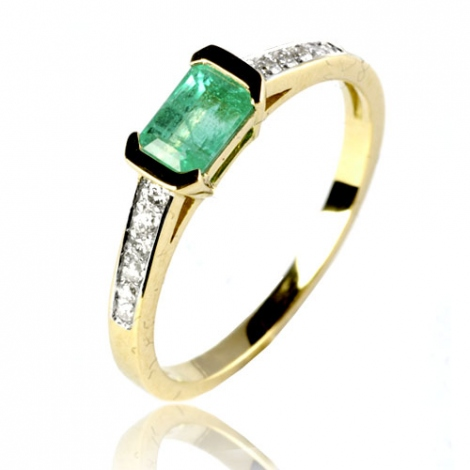 Bague émeraude en Or Blanc diamant Aria - 12592 EM