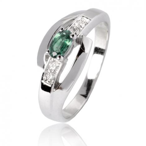 Bague émeraude en Or Blanc diamant Artémis - 12799 EM