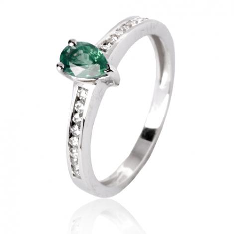 Bague émeraude en Or Blanc diamant Aurora - 12775 EM
