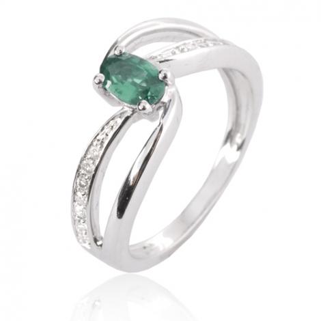 Bague émeraude en Or Blanc diamant Debora - 12787 EM
