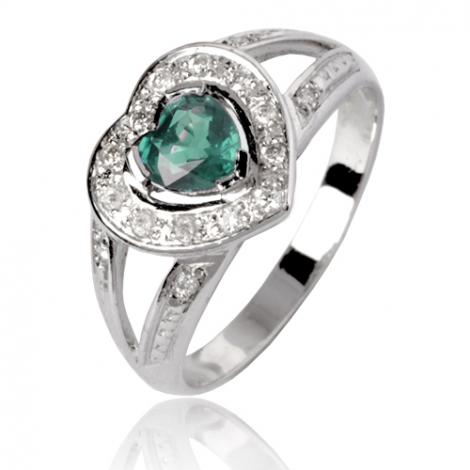 Bague émeraude en Or Blanc diamant Elsa - 12714 EM