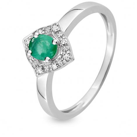 Bague Emeraude en Or Blanc diamant Julie - MAB02GEB4