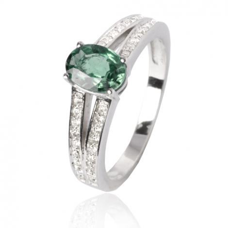 Bague émeraude en Or Blanc diamant Laélia - 12536 EM