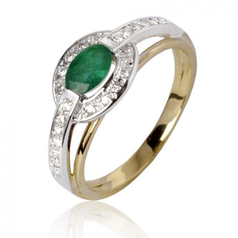 Bague émeraude en Or Blanc diamant Ysaline - 12857 EM