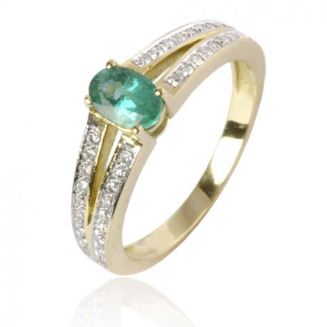 Bague émeraude en Or Jaune diamant Cléa - 12535 EM