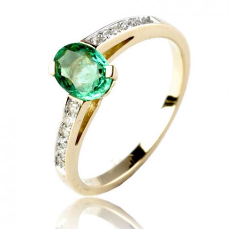 Bague émeraude en Or Jaune diamant Katerina - 12513 EM