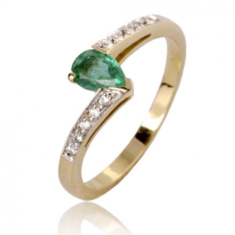 Bague émeraude en Or Jaune diamant Myriam - 12577EM