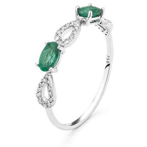 Bague Emeraude en Or Rose diamant Marea - RC563FMNWA80O