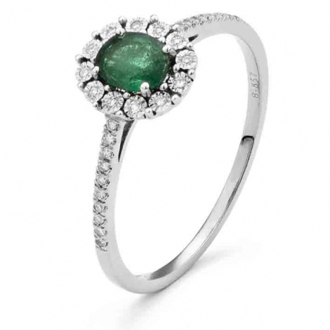 Bague Emeraude en Or Rose diamant Zhen - RB600FMNWA814