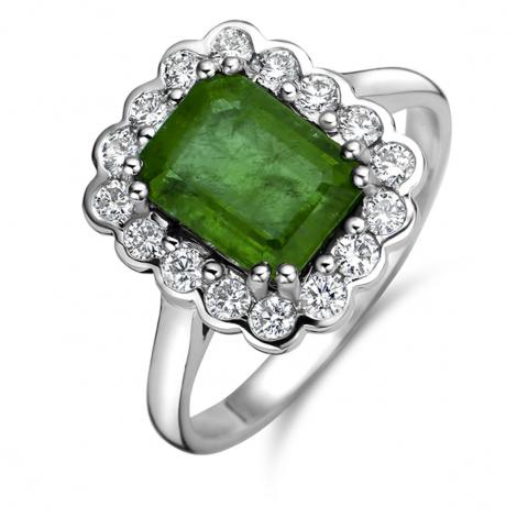 Bague Emeraude et Diamants en Or Blanc diamant Iovana - 059640EA