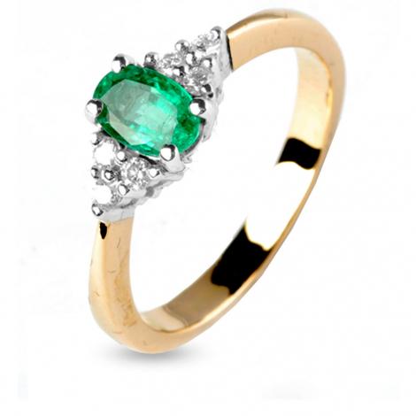Bague émeraude et diamants en Or Blanc diamant Leïla - 11888EM