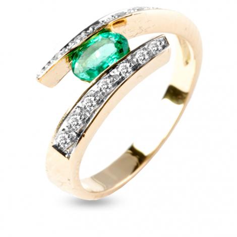 Bague émeraude et diamants en Or Jaune diamant Ashley - 11867EM