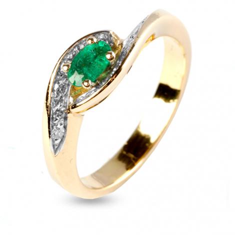 Bague émeraude et diamants en Or Jaune diamant Eloïse - 11452EM