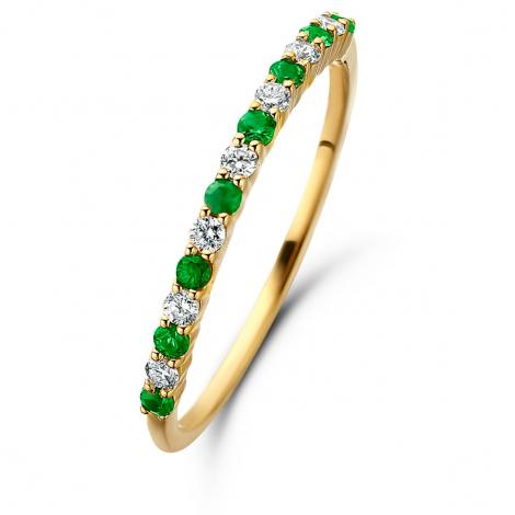 Bague Emeraude et Diamants en Or Jaune diamant Kyoko - 061656EA