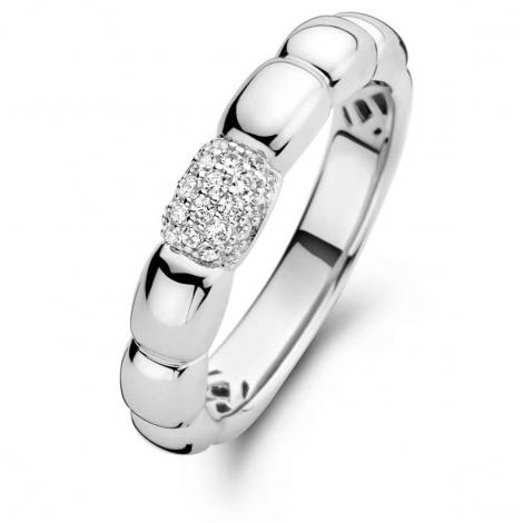 Bague en argent sertie de zirconium Naiomy Silver Silver - Femme - Agata - N1D51