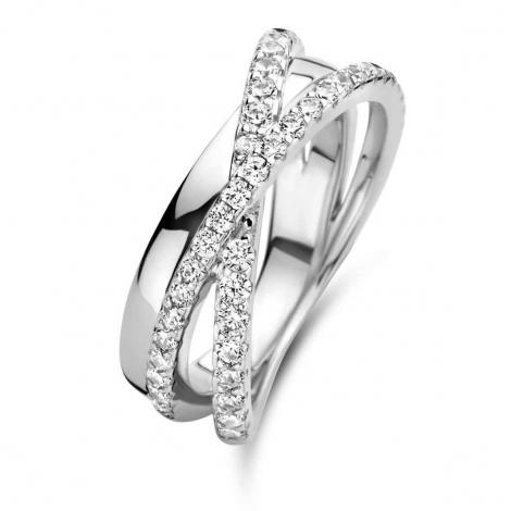 Bague en argent sertie de zirconium Naiomy Silver Silver - Femme - Erina - N1J51