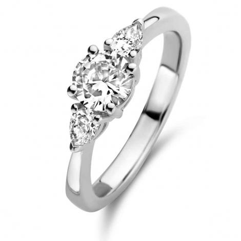Bague en argent sertie de zirconium Naiomy Silver Silver - Femme - Féerique - N1F51