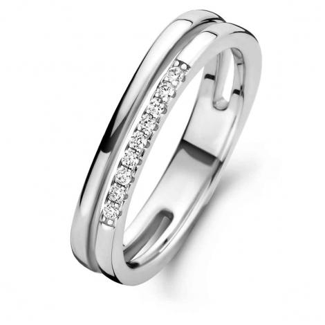 Bague en argent sertie de zirconium Naiomy Silver Silver - Femme - Florence - N1G51