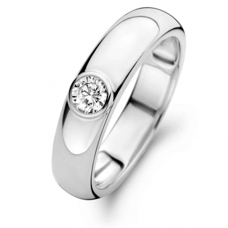 Bague en argent sertie de zirconium Naiomy Silver Silver - Femme - Hawai - N1E51