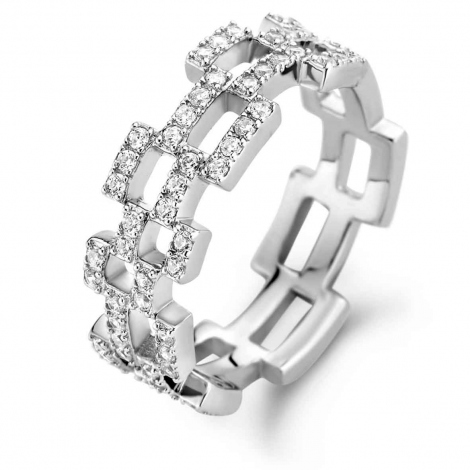 Bague en argent sertie de zirconium Naiomy Silver Silver - Femme - Milena - N1I51