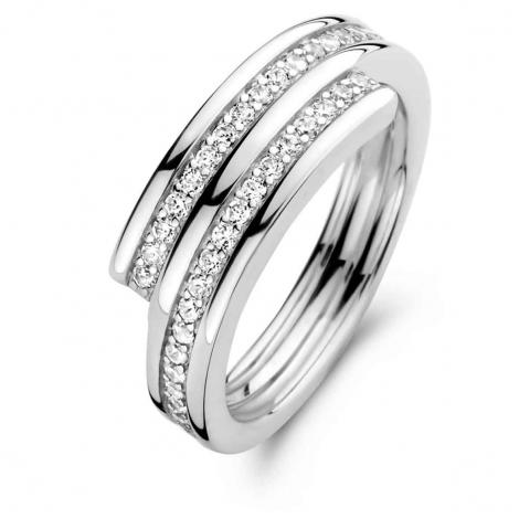 Bague en argent sertie de zirconium Naiomy Silver Silver - Femme - Nadya - N1B55