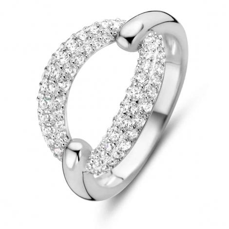Bague en argent sertie de zirconium Naiomy Silver Silver - Femme - Nymphea - N0A51