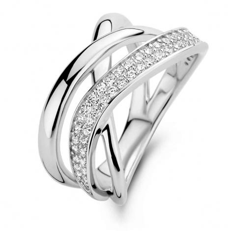 Bague en argent sertie de zirconium Naiomy Silver Silver - Femme - Shelly - N1C51