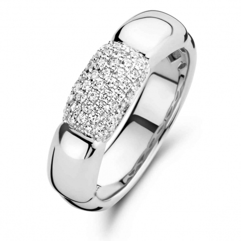 Bague en argent sertie de zirconium Naiomy Silver Silver - Femme - Uranie - N1D54