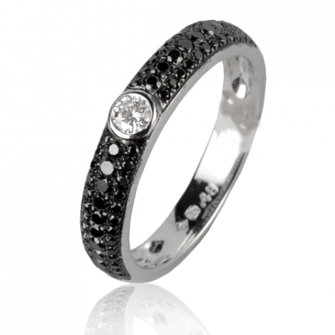 Bague en diamants noirs 0.48 ct Cocoon - 50329/A2