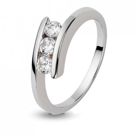 Bague en or et 3 diamants  0.39 ct - Fiona - 419013