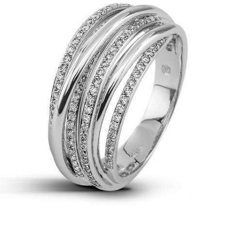Bague femme or blanc diamant 0.66 ct Marika - 51488/A