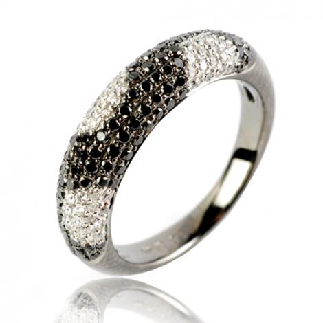 Bague or blanc avec diamant 0.91 ct Eugénie - 48000/A2