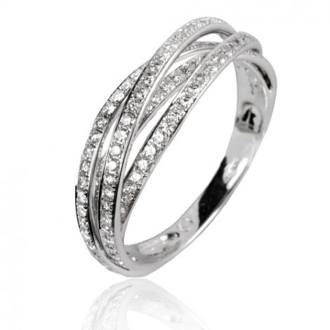 Bague or blanc diamant 0.61 ct Armonie - 50131/A