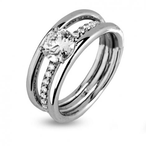 Bague or blanc diamants 1.1 ct Darjeeling - 91ZH63
