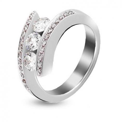 Bague or blanc et diamant 1.02 ct - Solèna - 421100