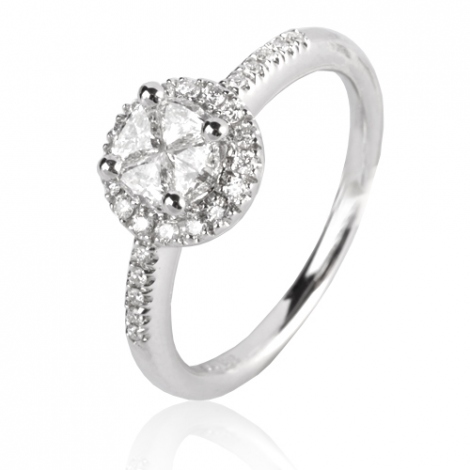 Bague or diamant femme 0.33 ct Lizzy - 49950/A
