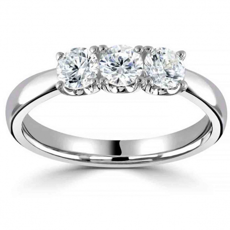 Bague or et diamant trilogie 0.30 ct - Cléa - HET2025-3