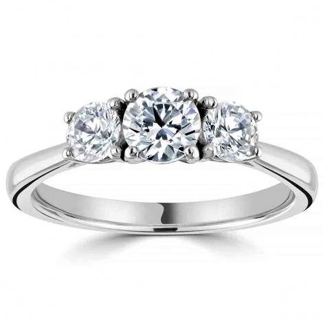 Bague or et diamant trilogie 0.45 ct - Maeva - R3-2037