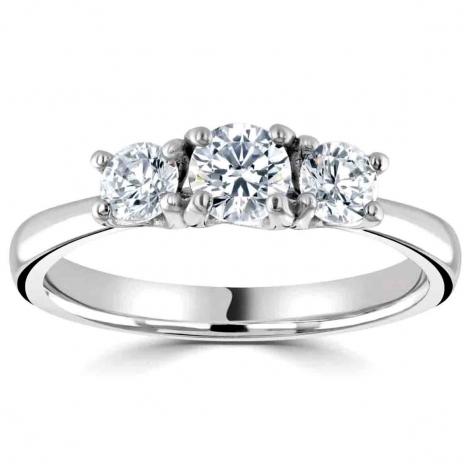 Bague or et diamant trilogie 0.50 ct - Elliora - r3-1014