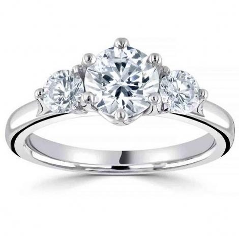 Bague or et diamant trilogie 0.80 ct - Carla - R3-1012